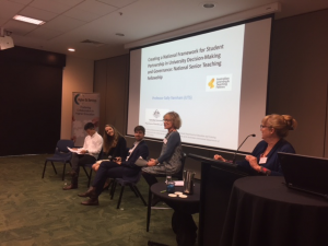 Sally runs her many conference presentations as conversations with a range of students – this is from the HES satellite event at the recent UA conference in Canberra